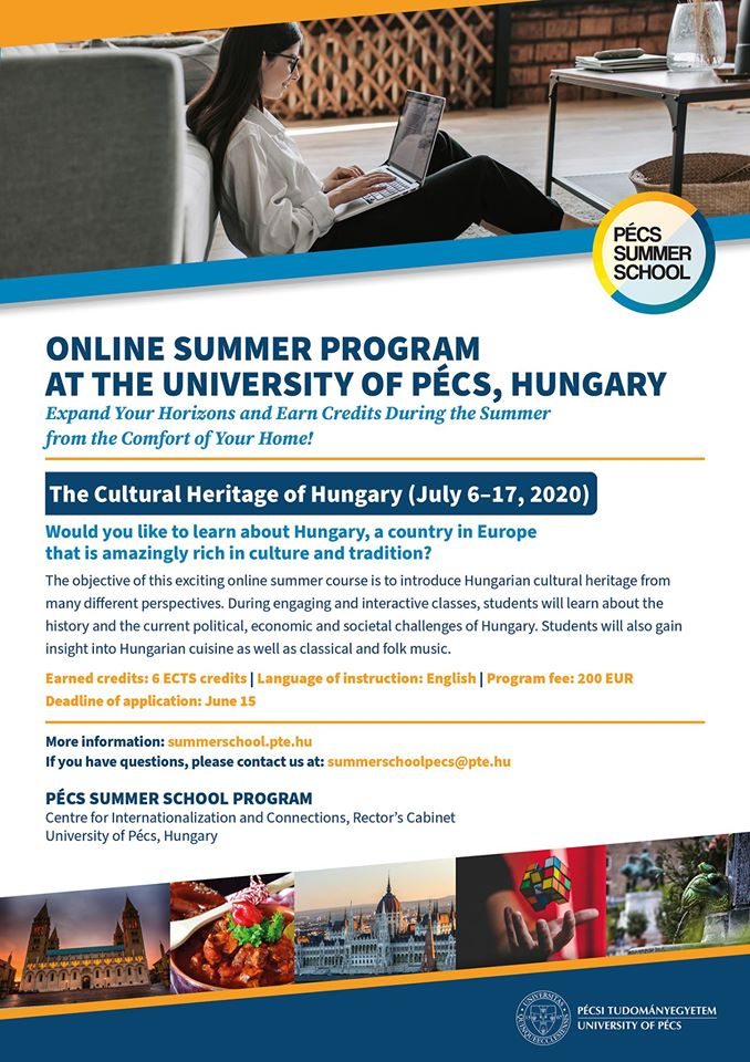 The Cultural Heritage of Hungary – Online Summer Course (July 6-17, 2020)