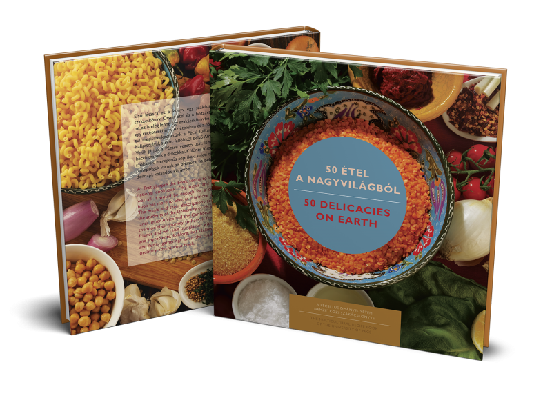 New Release - You can buy 50 Delicacies on Earth, the inernational recipe book of the University of Pécs!